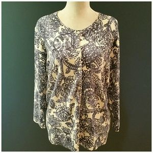 Blue Willow pattern button cardigan. XL